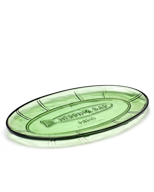 Schale oval flach